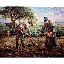 "Needlepoint Kit ""Potato Planters by Millet"" 19.7""x15.7"" (50x40cm.) printed canvas 560"
