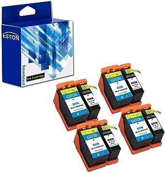 ESTON Compatible Hi-Yield Ink Cartridge for Dell Series 21 22 23 24 P513w P713w V313 V715w v515w 4 Black