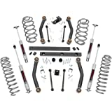 Rough Country - 90630 - 4-inch Suspension Lift System w/ Premium N3 Shocks for Jeep: 97-02 Wrangler TJ 4WD