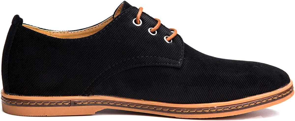 4HOW Mens Casual Oxford Lace Up Shoe