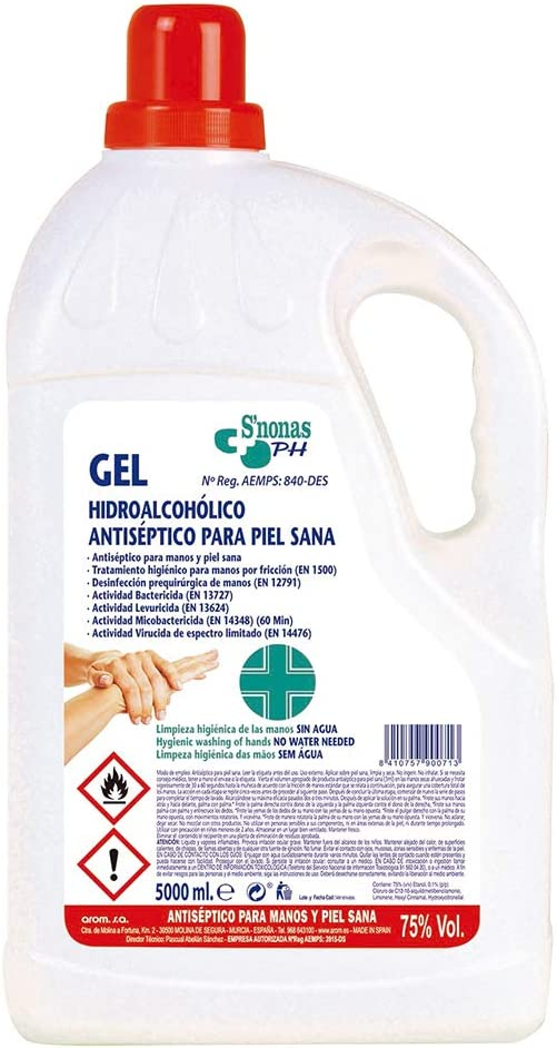 Gel higienizante S'nonas garrafa 5L
