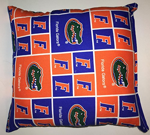 "Florida Gators Pillow Football Pillow Gators Pillow NCAA HANDMADE In USA Pillow is approximately 10"" X 11"