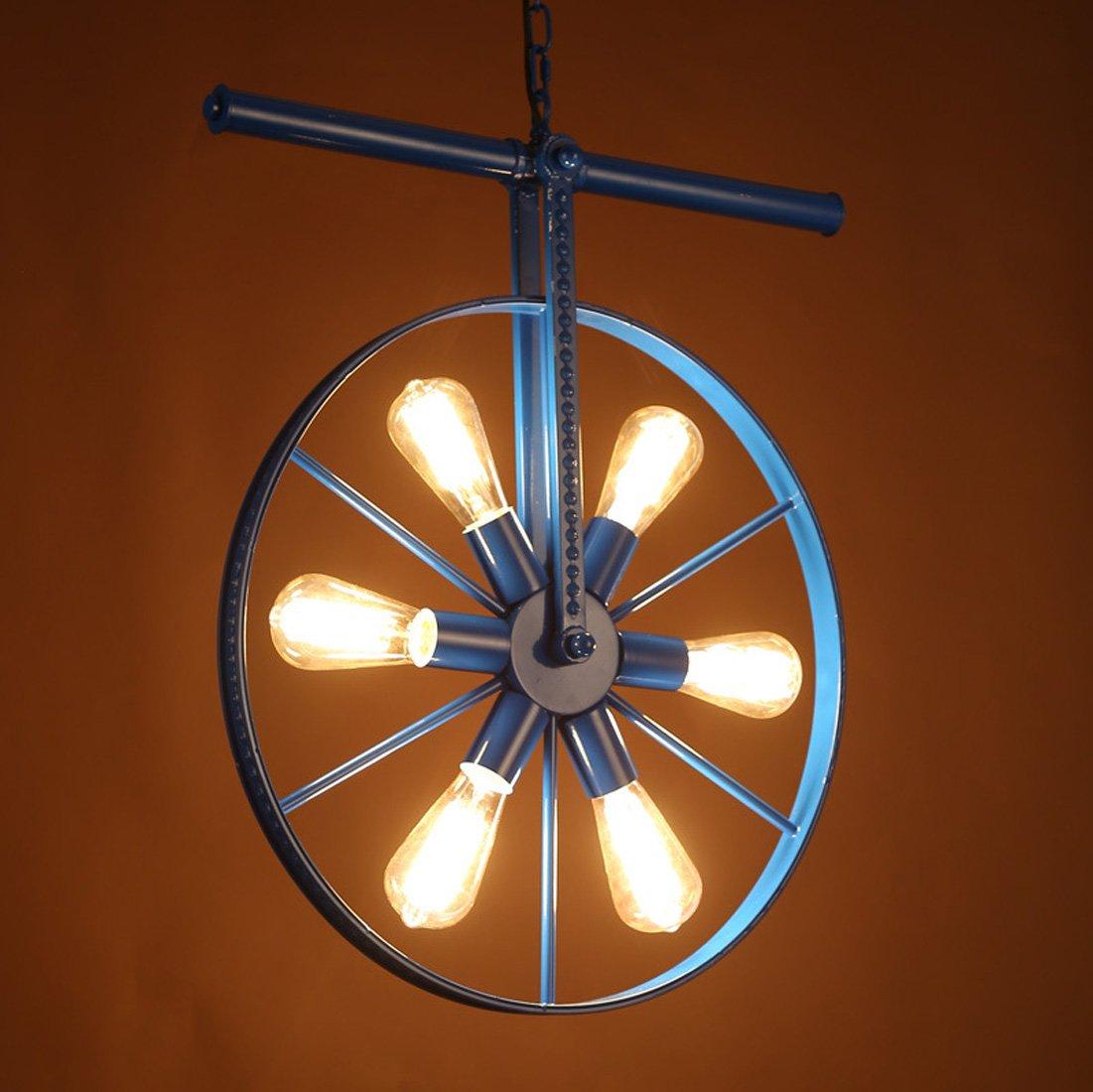 6 Vintage Industrielle Eisenräder Kronleuchter Kreative Windmühle Kronleuchter Industriellen Stil Esszimmer / Schlafzimmer / Showroom / Kaffee / Bar Farbe Kronleuchter (ohne Birne)
