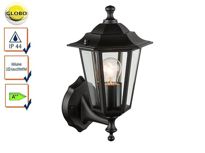 Lampada da parete lampada per esterni lampada nero con led