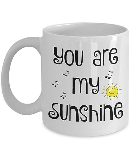 Amazoncom You Are My Sunshine Mug Necklace Gift Set Coffee Mugs