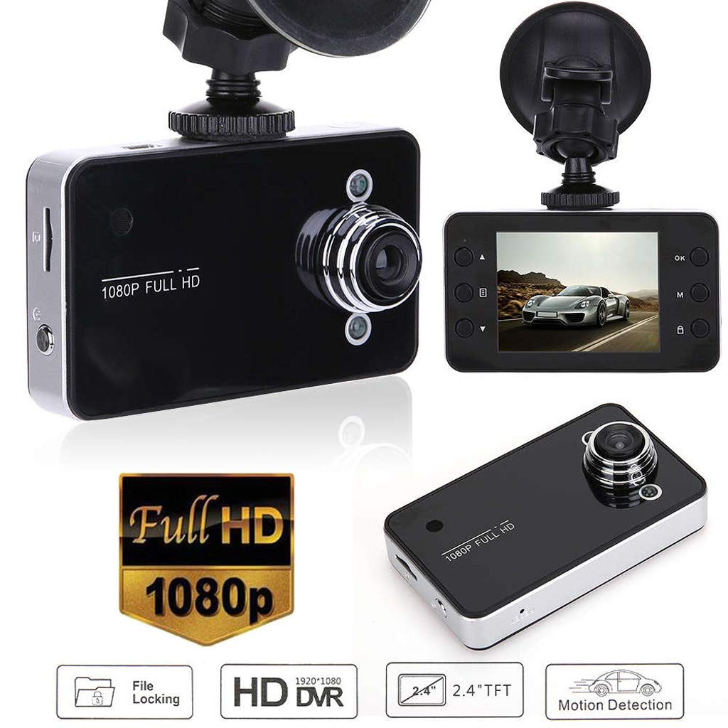 KUNAW Car Camera 1080P Full HD, Equipped with 2.2-inch IPS Wide-Angle Screen 170 °, Dashcam Camera, Sprint Camera with G Sensor, Motion Detection, Monitoring