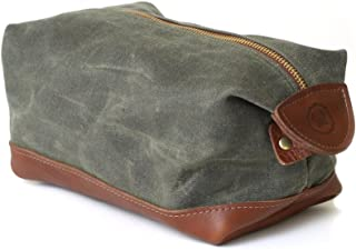 product image for DOPP Kit Toiletry Bag, Shave Kit in Waxed Olive Canvas, Great for Travel