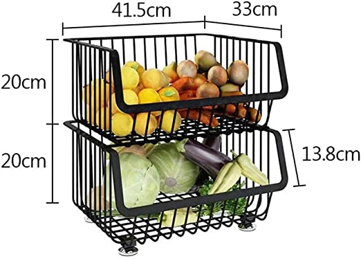 Kitchen Shelf - Metal Wire Baskets Trolley, Home Standing ...