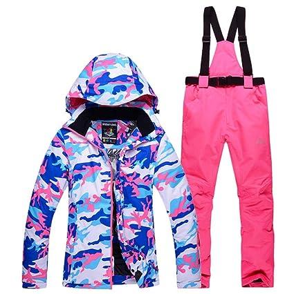 Amazon.com: Z&X - Chaqueta de esquí para mujer, a prueba de ...