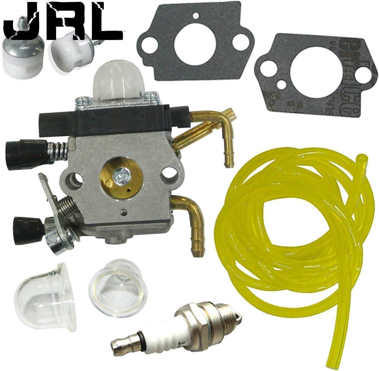 jrl carburador y Bujía y filtro de combustible para corta-setos HS81hs81r hs81rc hs81t hs81tz hs81rce hs81tce hs86t hs86r hs86rz