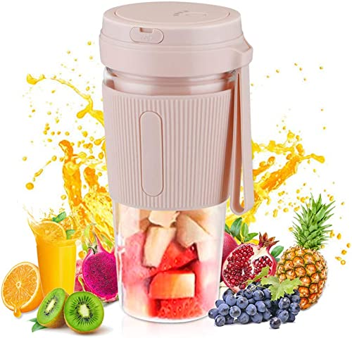Outdoor blender mini personal portable cordless'shaker USB-rechargeable'small lightweight fruit juicer blender'smoothie maker kitchen auxiliary blender outdoor work travel'sport juice cup