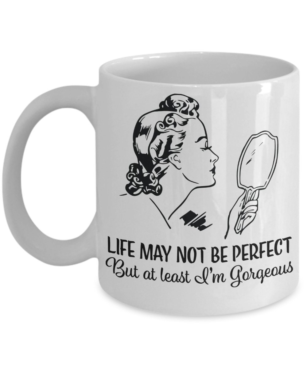 Amazon Com Nostalgic Coffee Mug I M Gorgeous 1950s Housewife