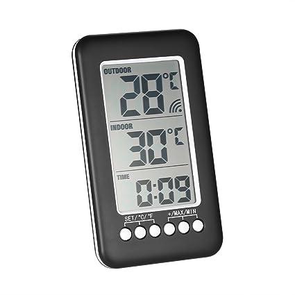 Digital Inalámbrico Interior /Al Aire Libre Termómetro Reloj Temperatura Metro