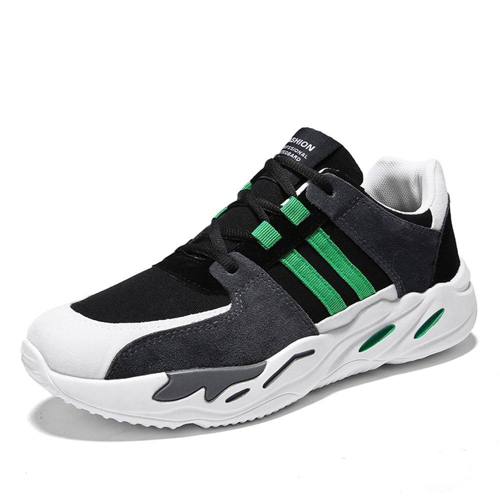 MUOU Schuhe Herren Freizeitschuhe Outdoor Sneaker Lace-Up Graffiti Wanderschuhe Spring Fashion Schuhe Sportschuhe  40 EU|Schwarz-Gr眉n