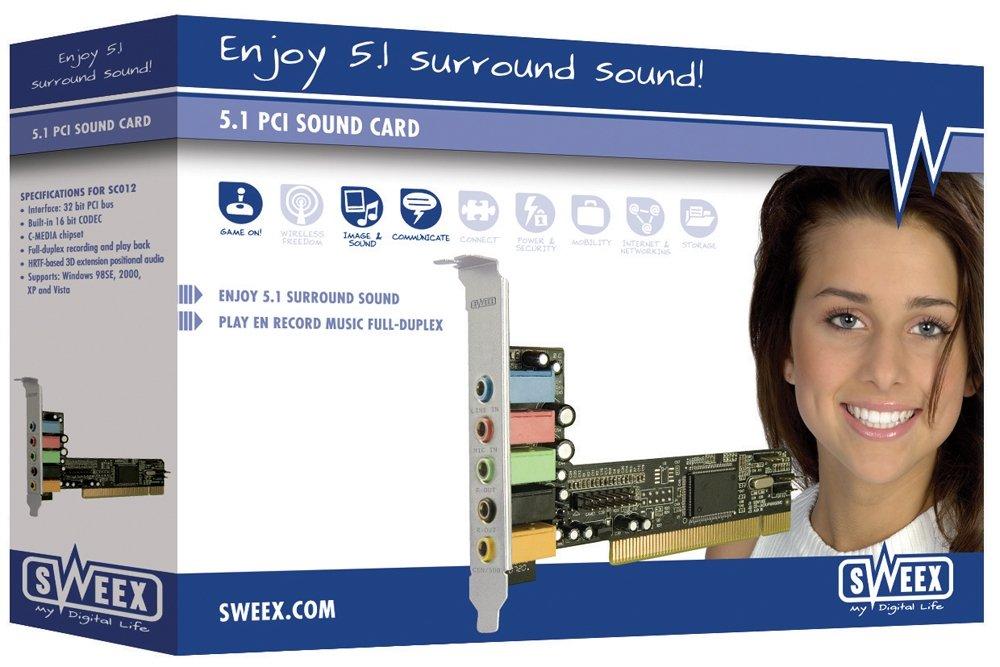 Sweex Scheda Audio Pci 5,1, Nero SC012 5.1PCI schedaaudio