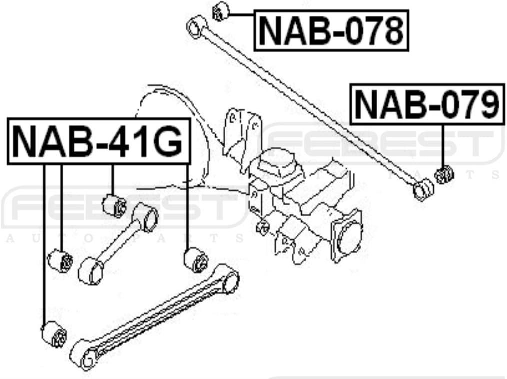 FEBEST NAB-079 Arm Bushing for Track Control Arm