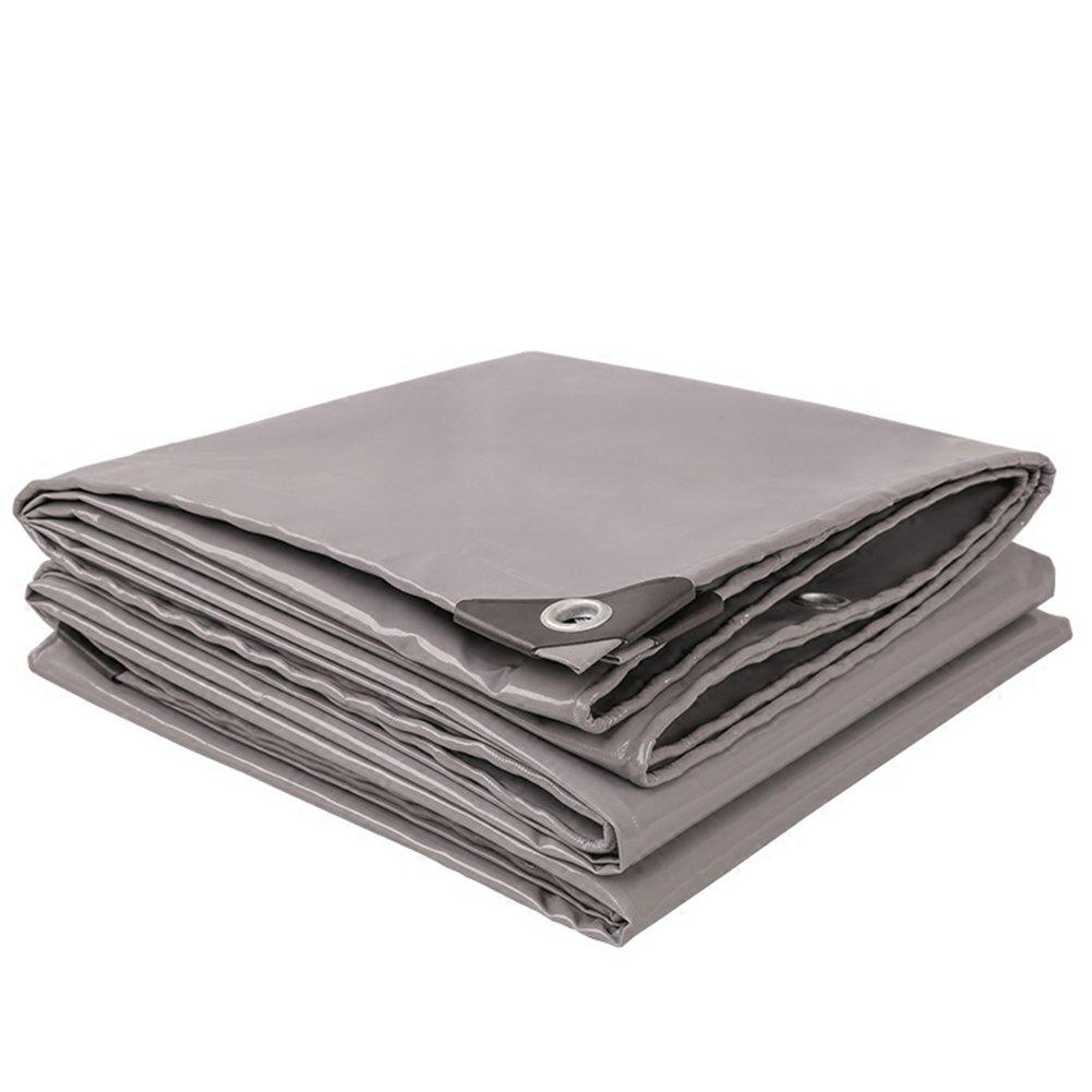 PENGFEI 厚い オーニング ターポリン 防水 レインキャノピー布 トラック カバー 防塵の 日焼け止め シェード PVC、 厚さ0.45MM、 520g/m 2 (色 : グレー, サイズ さいず : 3 x 3m) B07D7RTRGS 3 x 3m グレー グレー 3 x 3m