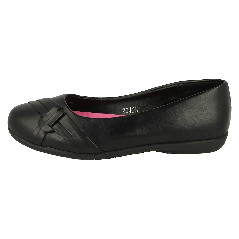 Spot On Girls Slip On School Shoes