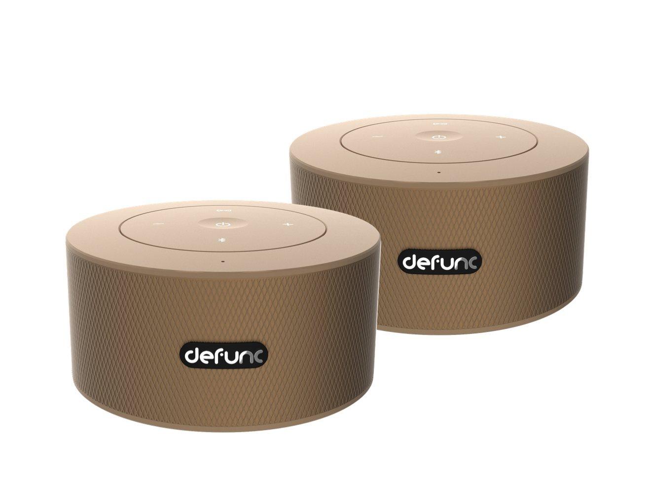 ワイヤレススピーカー Defunc(デファンク) DUO(デュオ) ステレオサウンド (1セット2個入り) (Goldish)   B0772FDWQY