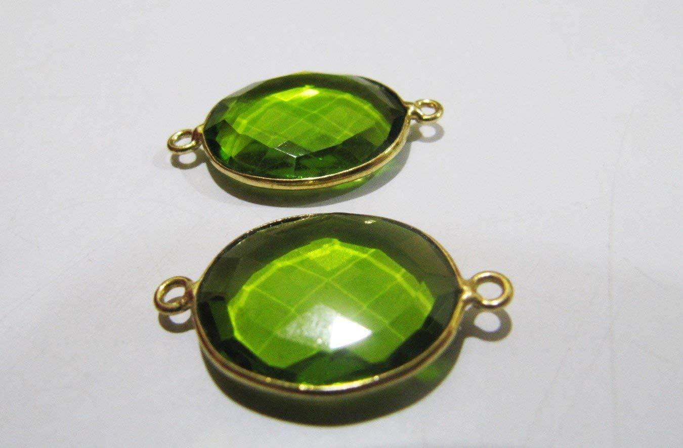 Parrot Green Hydro Quartz Round Briolette 925 Sterling Silver Gold Plated Bezel Pendant