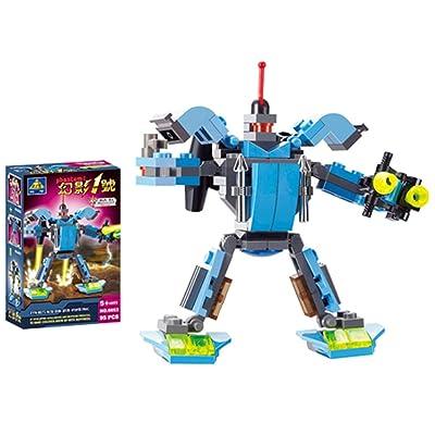 儿童玩具 开智积木玩具变形机器人系列-幻影1号 6053