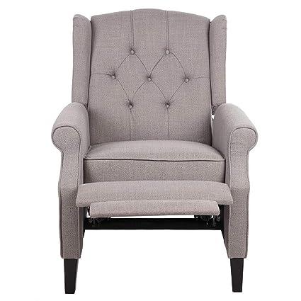 Amazon.com: Cypress Shop Recliner Sofa Manual High Back Lounge ...