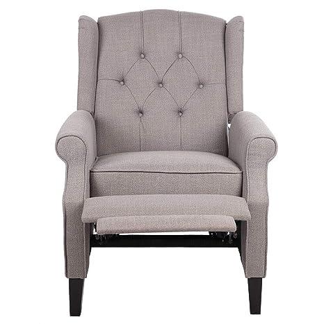 Amazon.com: Cypress Shop Recliner Sofa Manual High Back ...