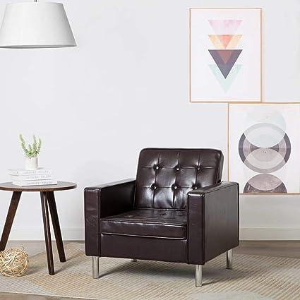 Festnight- Sillón para Oficina Salón Diseño Moderno Tapizado ...
