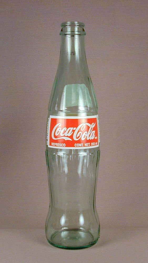 New Coca Cola (Coke) Collectible Contour Glass Bottle Imported From Mexico Rare Edition 355 ml Version!