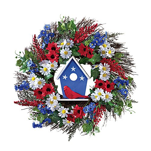 (Collections Etc Patriotic 4th of July Americana Birdhouse)