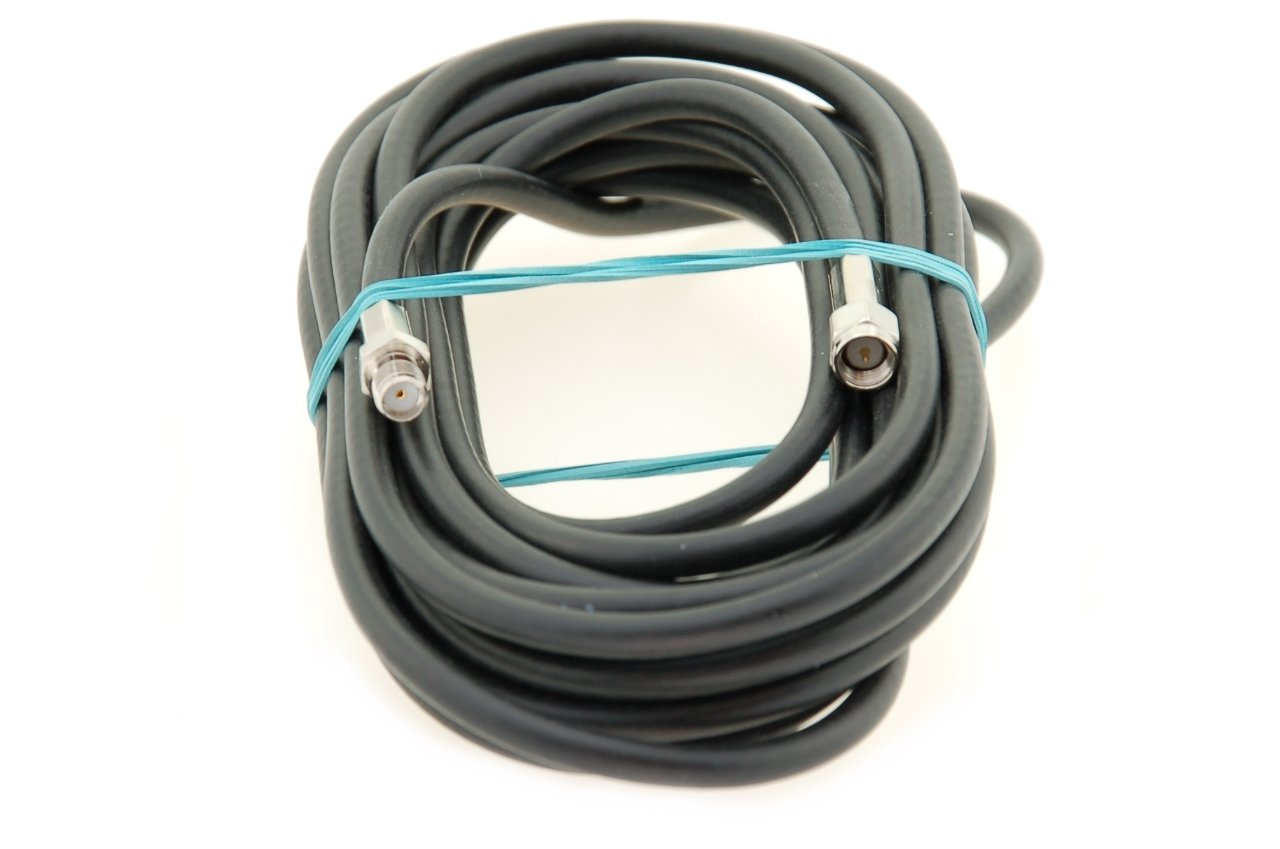 Alda PQ Antennen Verlä ngerungskabel 5m, Antennenkabel RG58 mit SMA/M auf SMA/F Steckern zur Antennenverlä ngerungund Empfangsverbesserung. Kabel ist fü r den Hochfrequenzbereich ausgelegt.