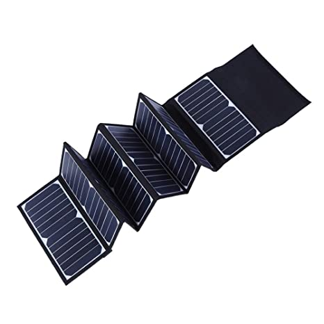 Garsent Panel Solar Plegable, portátil Cargador Solar 5 V 60 ...
