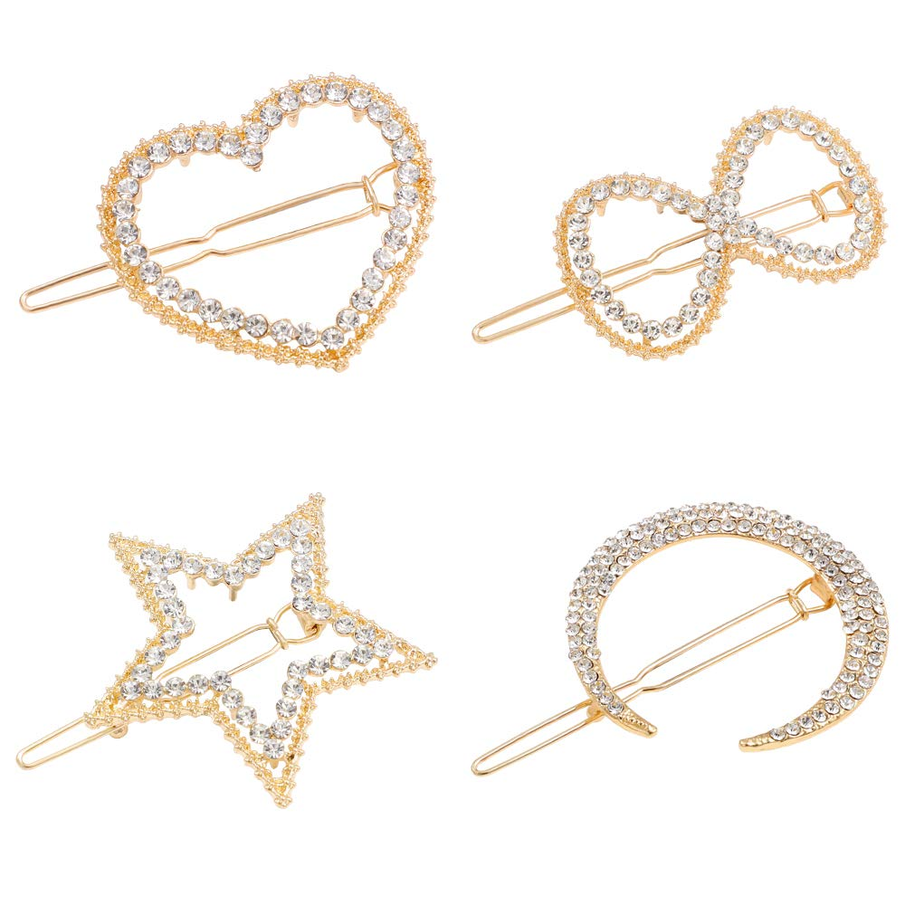 Justbuy 2.5 inch Large Metallic Bobby Pins Rose Gold Hair Pins for Redhead Women Girls Decorative Styling Accessories Copper Hairpins 62pcs in Storage Box : Beauty