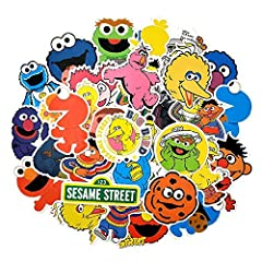 Material: high quality PVC, Size: 3-10cmFeature: Waterproof,No trimming required,All pre-cut,easy to use.Sticker sesame street suitable for: decorate the diary, Laptop, Graffiti, Vintage, Decal, Skateboard, Car, Bumper, Hoverboard, Sno...