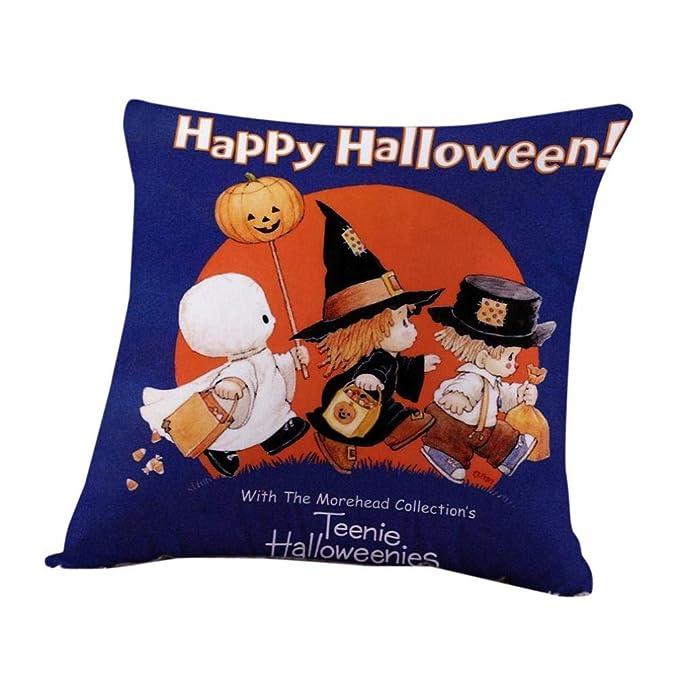 2018 Happy Halloween Fundas de Almohada Lino Sofá Fantasmas ...