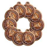 100 Pack of Bronze Saint Francis of Assisi Patron Saint of Pets Collar Medal