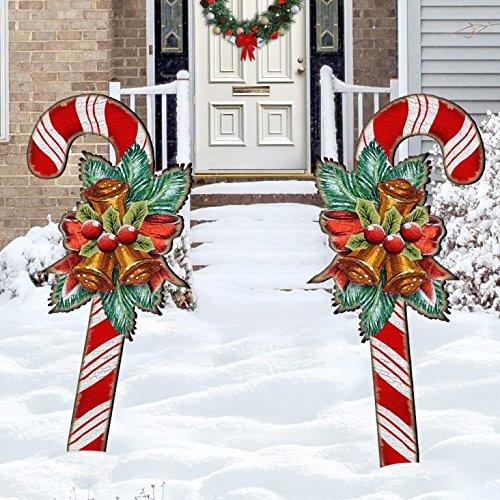 Amazoncom Christmas Candy Cane Rustic Yard Lawn Holiday
