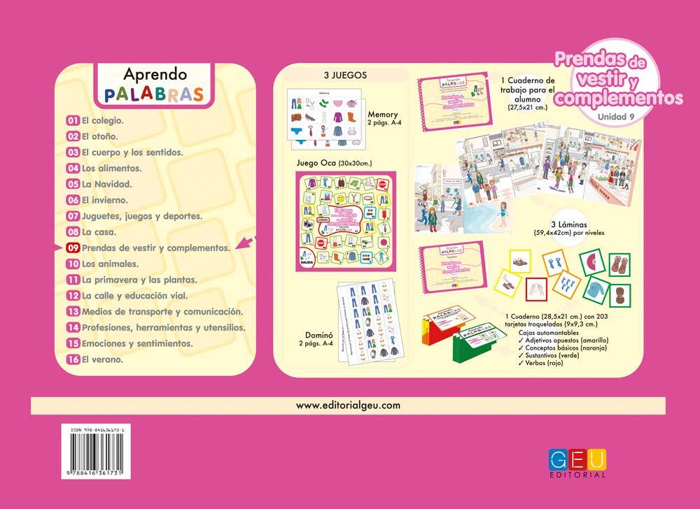APRENDO PALABRAS 9. PRENDAS DE VESTIR Y COMPLEMENTOS: CRISTINA / ALVAREZ MARTIN, ANA CRISTINA MORAN GORDILLO: 9788416361731: Amazon.com: Books