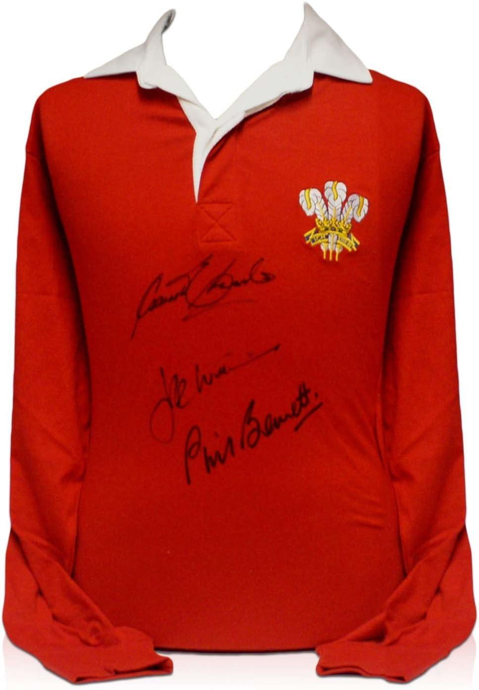 camiseta de Gales de rugby firmada por Gareth Edwards, JPR Williams y Phil Bennett: Amazon.es: Deportes y aire libre
