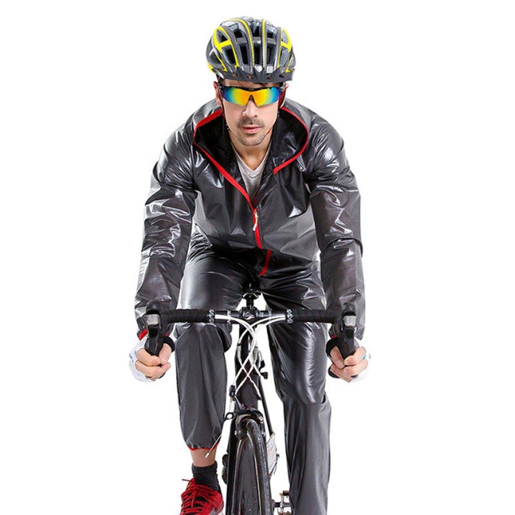Pieza /única, o Conjunto Alexsix Hombres Mujeres Traje de Lluvia Impermeable Resistente al Desgaste con Cremallera Chaqueta con Capucha Juego de Pantalones para Acampar Ciclismo