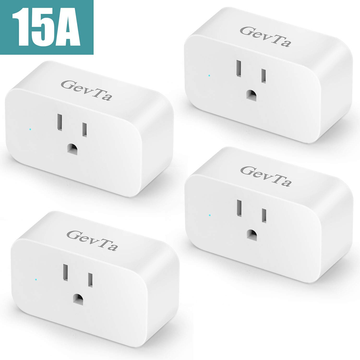 GevTa Wifi Smart Wall Plug Compatible with Alexa,Google Home,IFTTT,Wireless Remote Control Timer Socket Power Switch Outlet
