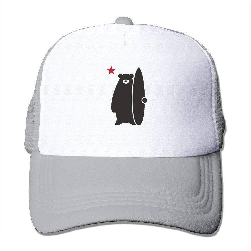 cvbnch Gorras de béisbol Hombre/Mujer,California Surf Bear Funny ...