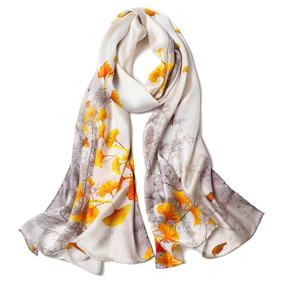 Black Paioup Women's silk shawl Silk scarf Light and breathable Perfectly expresses unique temperament
