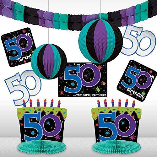 Amscan The Party Supplies Continues 50th Birthday Decorating Kit ()