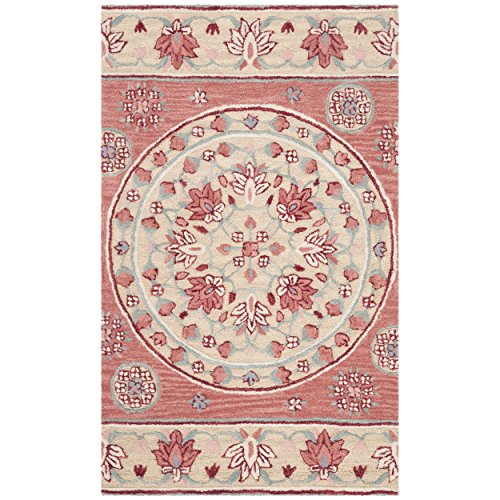 Safavieh Bellagio Collection BLG601Q Red and Beige Premium Wool Area Rug (2' x 3')