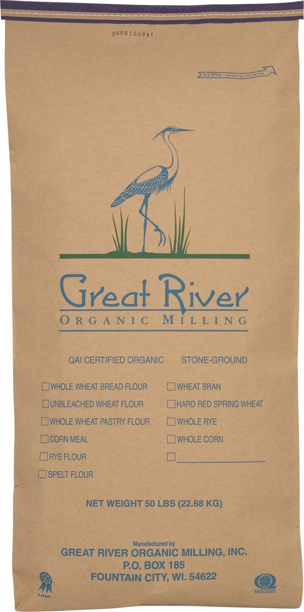Great River Organic Milling Organic Specialty Quick Rolled Oats, 50-Pounds