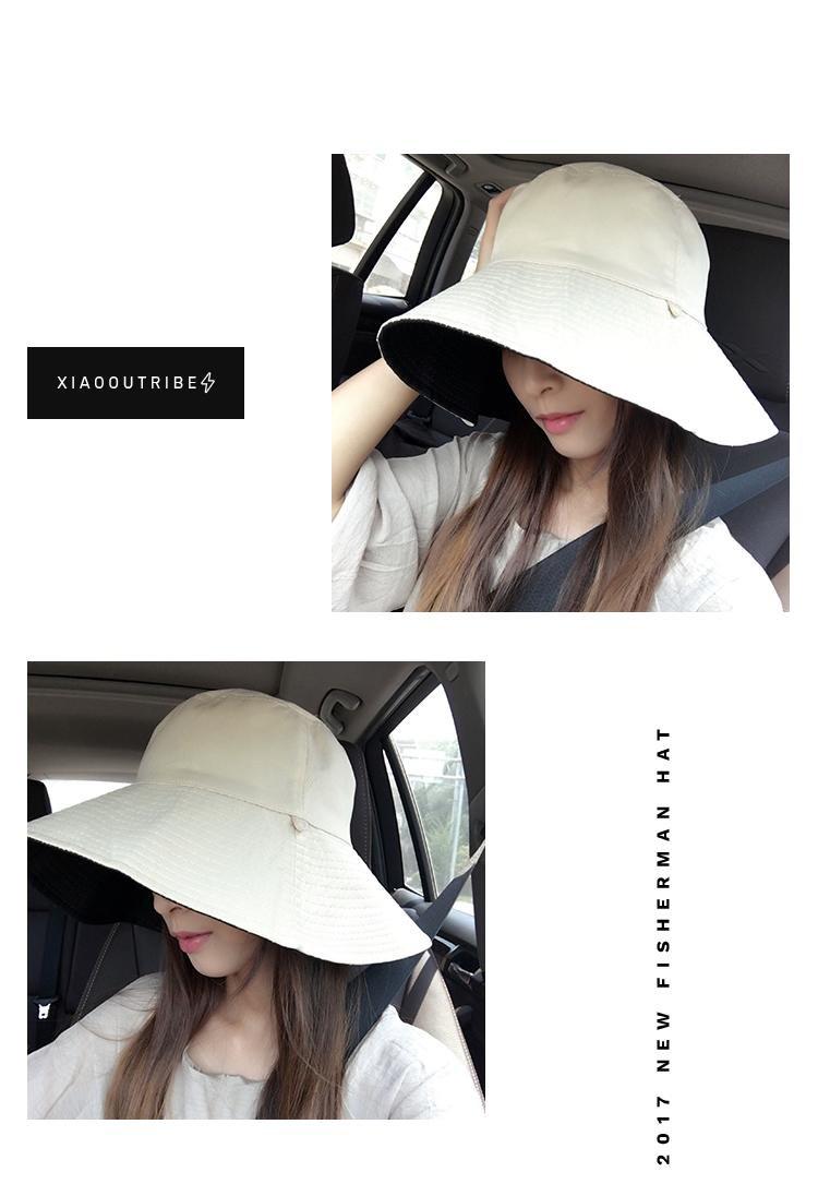 f8812f4ffbd051 Amazon.com: Generic Japanese sided solid color hat cap women girls lady  Korean large brimmed bucket hat cap man boy Beautiful casual summer sun  shade sun ...