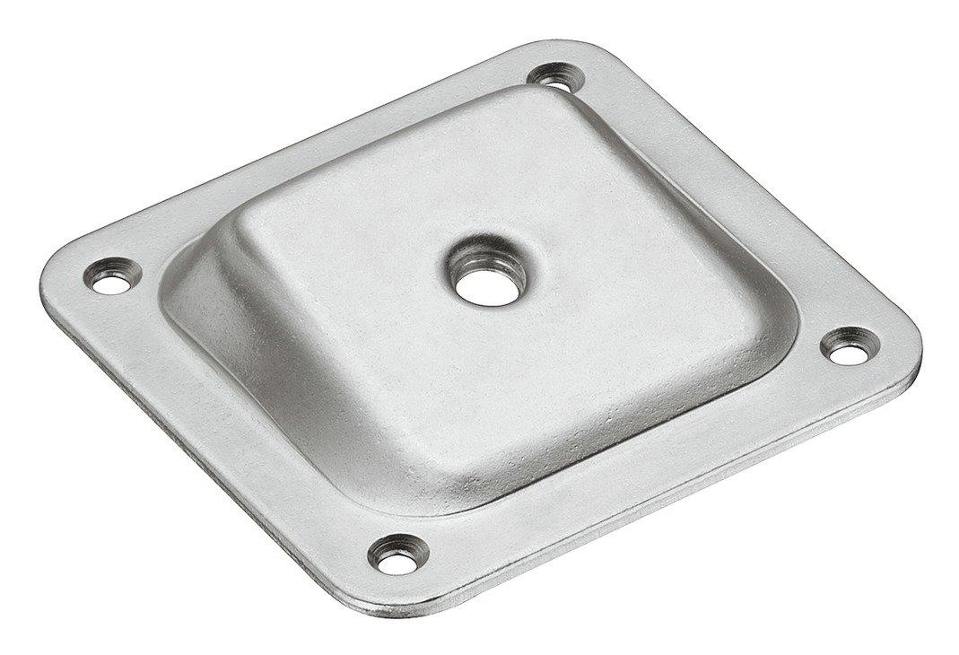 4 St/ück ohne Schrauben Gedotec Winkel-Befestigungsplatte schr/äg mit M8 Gewinde f/ür M/öbelf/ü/ße /& Tischbeine Metall verzinkt Anschraubplatte 10/°