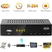 Leelbox Digital Converter Box for Analog TV 1080P ATSC Converters with Recording