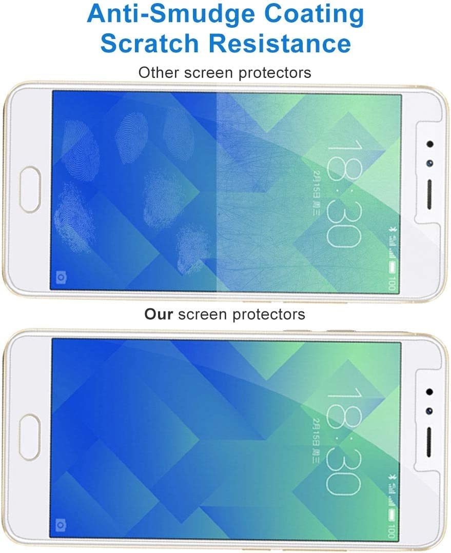 JIANGNIUS Screen Protectors 100 PCS 9H 2.5D Tempered Glass Film for Meizu M5S